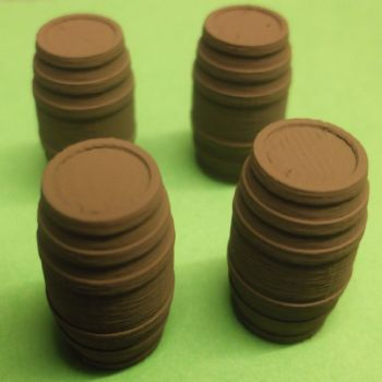 O Scale Barrels - Pack of 4